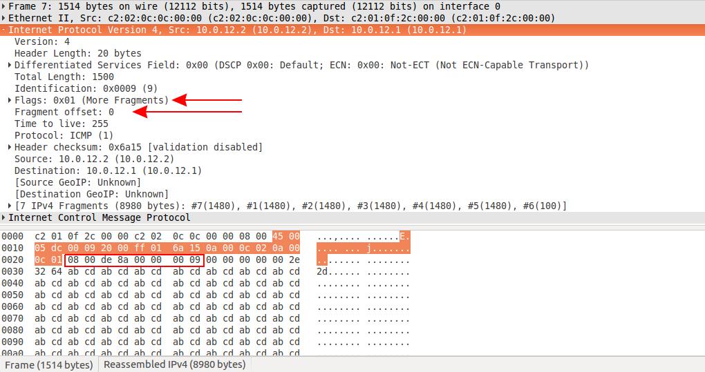 IP Fragmentation in Wireshark (2)